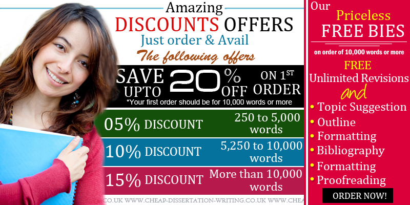 Cheap Dissertations - Discounts and freebies